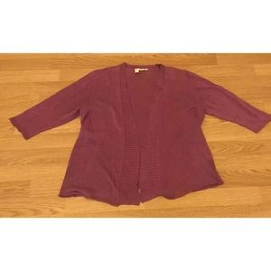 Eileen Fisher Petite Large Purple Cardigan Sweater